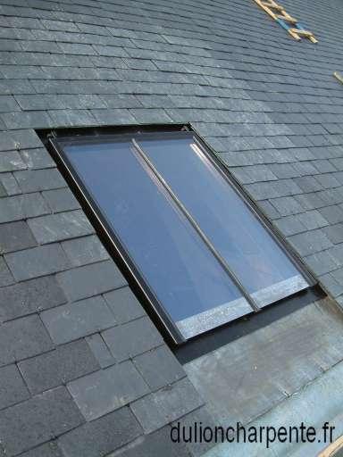 charpente bois couverture de toit ardoises naturelles. Black Bedroom Furniture Sets. Home Design Ideas