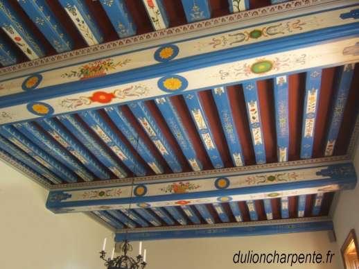 Restauration monuments historiques » Plafonds à décors peints